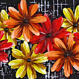 Bold Floral Abstract. by Trudee Hunter