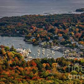 Camden Harbor Maine From Mount Battie by Elizabeth Dow