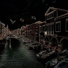 Metallic night Chioggia Italy by Rita Di Lalla
