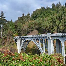 Classic Oregon coast bridge designed by McCullough  by Steve Estvanik
