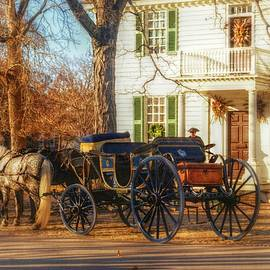 Colonial Carriage Awaits by Marilyn DeBlock