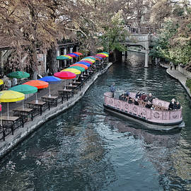 Colorful Sights Along the San Antonio Riverwalk selective color  by Lynn Bauer