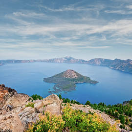 Crater Lake in the Evening by Jeff Goulden