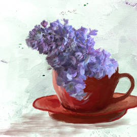 Cup of Flowers by Mary Timman