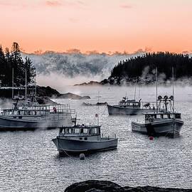 Cutler Harbor Sea Smoke 1 by Marty Saccone