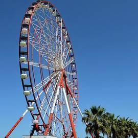 Ferris wheel at Miracle amusement park at waterfront Batumi Georgia by Imran Ahmed