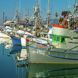 Fishing Boats At Fishermans Wharf by Bill Gallagher