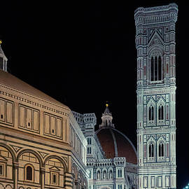 Florence Duomo at Night by Andrew Cottrill