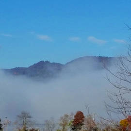 Foggy Mountain Morning  by Ally White