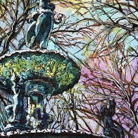 Winter Study-Fountain Square Park by Misha Ambrosia