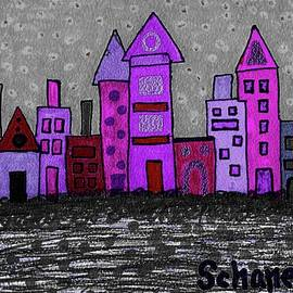Funky Skyline by Susan Schanerman
