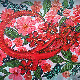 Gecko In The Garden. by Trudee Hunter