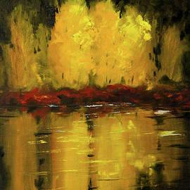 Golden Reflection by Nancy Merkle