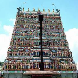 Gopuram pagoda of Tamil Kallumalai Murugan Kovil Hindu temple Ipoh Malaysia by Imran Ahmed