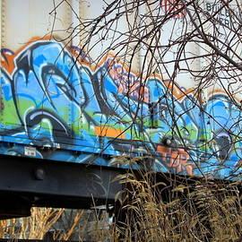 Graffiti Train Car in Winter