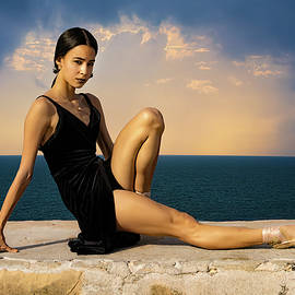 Cuban Dancer On The Malecon by Chris Lord