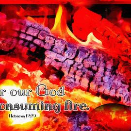 Hebrews 12 29 by Michelle Greene Wheeler
