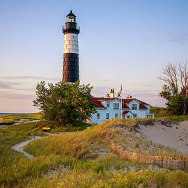 Historic Big Sable Point Light and Keepers house by Adam Romanowicz