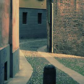 Italian narrow alley, Pavia, Lombardy, Italy. by Casimiro Art