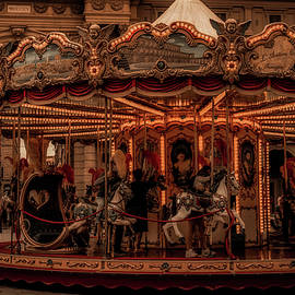 The great carousel Florence Italy by Rita Di Lalla