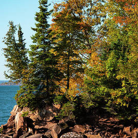 Lake Superior Shoreline in Big Bay State Park Seven by Bob Phillips