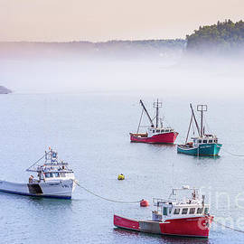 Lobster Fishing Boats by Alana Ranney