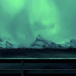 Lofoten northern lights,Fredvang by Abrahan Fraga