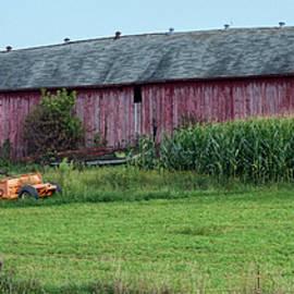 Long Red Barn by Paul Freidlund