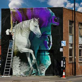 Magical Horse-Artwork in Situ by Grace Iradian