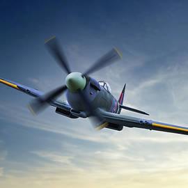 MK IX Supermarine Spitfire by Russ Dixon