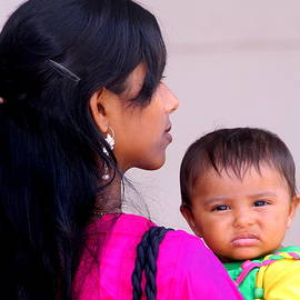 Mother and Child in Agra India by Laurel Talabere