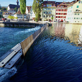Nadelwehr, Needle Dam, Reuss River, Lucerne. by Joe Vella