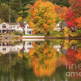 New England autumn colors by Claudia M Photography