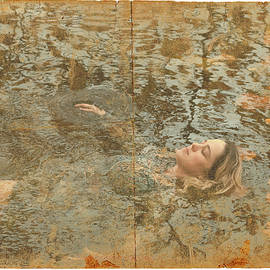Ophelia in the cold water by America Cantarino