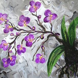 Purple Orchids by Britt Miller