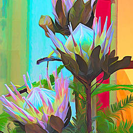 Protea Abstract by Trudee Hunter