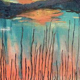 Reeds At Sunset by Laura Jaffe
