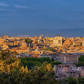 Rome Cityscape At Sunset In Italy by Artur Bogacki