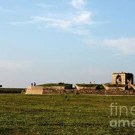 Sections of wall and guard house at Jaffna Fort Sri Lanka  by Imran Ahmed