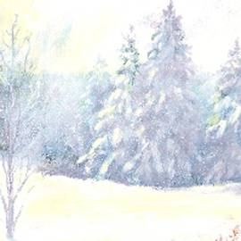 Snow Capped Trees by Belinda Threeths