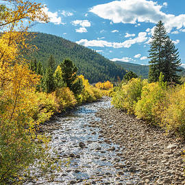 South Boulder Creek Autumn by Lorraine Baum