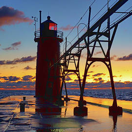 South Haven Light - No 3 - Michigan by Nikolyn McDonald