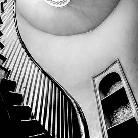 Spiral Staircase Black And White by Paul Thompson