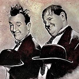Stan Laurel and Oliver Hardy by Andrew Read