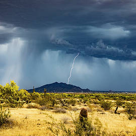 Storm Over Black Mountain by Cathy Franklin