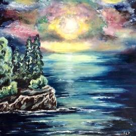 Sundown on the ocean by Cheryl Pettigrew