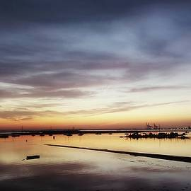 Sunset Across The Thames Estuary  by Leigh Smith
