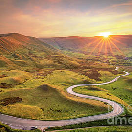 Road to the sun - The winding road to Edale Peak District National Park, Derbyshire, England by Neale And Judith Clark