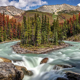 Sunwapta falls in Jasper National Park by Pierre Leclerc Photography
