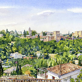The Alhambra Granada by Margaret Merry